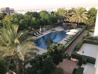 Studio for Rent in Al Ghadeer, Abu Dhabi - Spacious pool view studio home + terrace