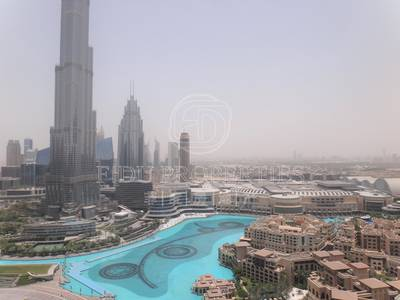 3 Bedroom Penthouse for Rent in Downtown Dubai, Dubai - Facing Burj and Fountain | Two balconies