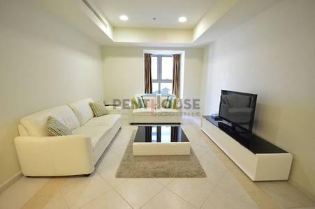 1 Bedroom Flat for Rent in Dubai Marina, Dubai - Full Panoramic Sea view Nice 1 bed in Princess tower Marina