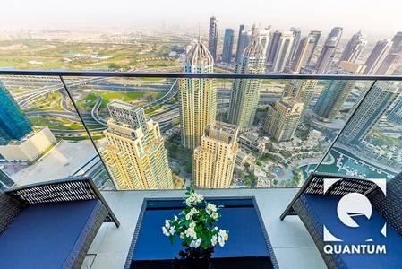 2 Bedroom Flat for Rent in Dubai Marina, Dubai - High Floor | Stunning View | Furnished