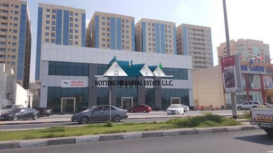 Showroom for Rent in Al Jurf, Ajman - Main Road SHOWROOM with mezzanine for rent in Al Jurf - Ajman