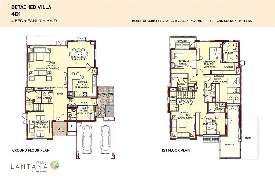 10 Corner Plot | Type 4D1 | 4 Bedroom Villa