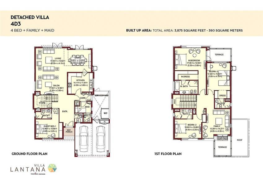 10 Type 4D3 |  4 Bedroom Villa | Single Row