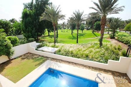 4 Bedroom Villa for Rent in Al Garhoud, Dubai - Private Pool | Stunning Golf Course View