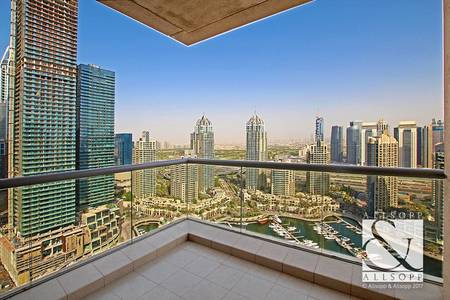 3 Bedroom Apartment for Sale in Dubai Marina, Dubai - Full Marina Views | Vacant Now | Terrace