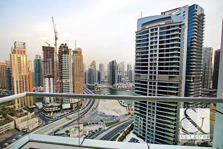 2 Bedroom Apartment for Sale in Dubai Marina, Dubai - Marina and Sea View   Mid Floor   Balcony