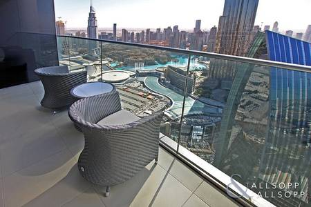 3 Bedroom Flat for Sale in Downtown Dubai, Dubai - Vacant | Burj Khalifa View | Serviced