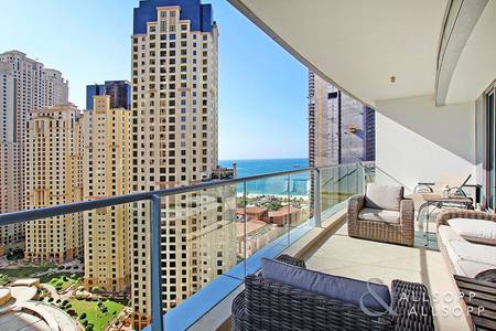 2 Bedroom Flat for Sale in Dubai Marina, Dubai - Sea View | Outdoor Terrace | Two Bedroom