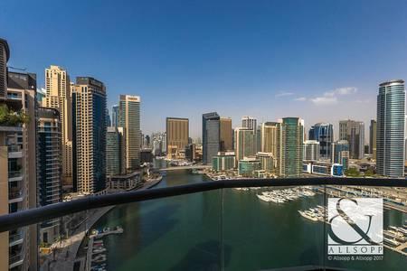 1 Bedroom Flat for Sale in Dubai Marina, Dubai - Rare Unit | Full Marina Views | High Floor