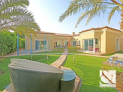 4 Bedroom Villa for Rent in Green Community, Dubai - Upgraded  |  Backing Pool  |  Large Plot