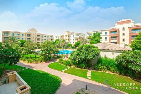 1 Bedroom Apartment for Sale in Green Community, Dubai - Upgraded | Overlooking Pool | Balcony
