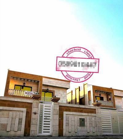 5 Bedroom Villa for Sale in Al Rawda, Ajman - New villa two floors with electricity and air conditioners with the possibility of bank financing
