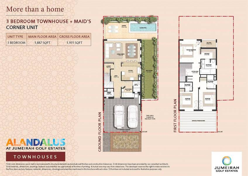 10 3 Bedrooms | End-Unit | Backing onto Plaza