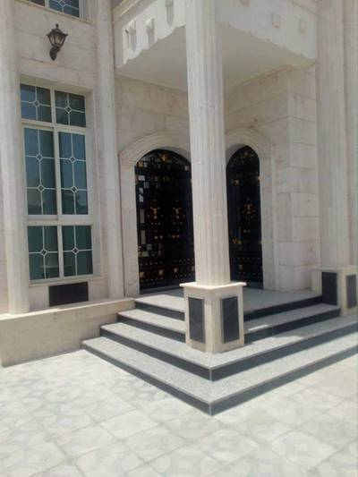 5 Bedroom Villa for Sale in Al Rawda, Ajman - For sale Villa with a new extension first inhabitant faced stone finishing Super Deluxe free ownersh
