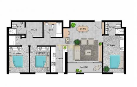 3 Bedroom Apartment for Sale in Al Reem Island, Abu Dhabi - VERY WIDE 3 BR+M FOR SALE in MEERA TOWER I