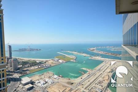 2 Bedroom Flat for Rent in Dubai Marina, Dubai - Stunning Sea View | High Floor | Vacant