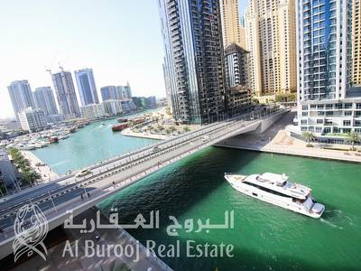 3 Bedroom Flat for Sale in Dubai Marina, Dubai - Full Marina View at The Waves Tower