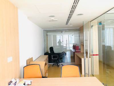 Office for Rent in Jumeirah Lake Towers (JLT), Dubai - fully fitted,fully furnished with great view for rent in jbc,jlt in 80000