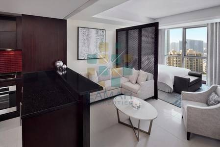 Hotel Apartment for Rent in Downtown Dubai, Dubai - Renovated serviced Studio - High floor - Bills included