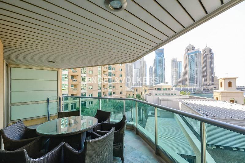 Large Balcony| Marina View| Wooden Floor