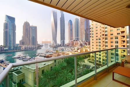2 Bedroom Flat for Sale in Dubai Marina, Dubai - Full Marina View 2BR plus Study | Al Yass