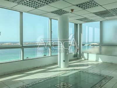 Office for Rent in Corniche Road, Abu Dhabi - Sea Front Fully Fitted Office with 1 Parking in Corniche Road!