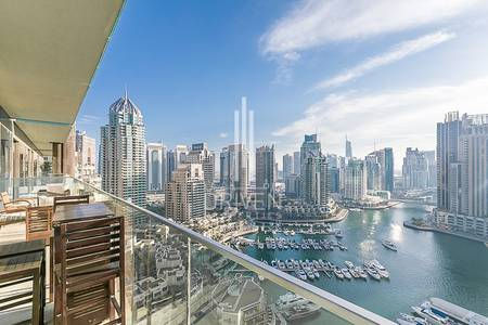 3 Bedroom Flat for Rent in Dubai Marina, Dubai - Fully Furnished 3 Bed Apt | Marina View.