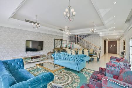 4 Bedroom Villa for Sale in Jumeirah Village Circle (JVC), Dubai - Park view G+1 semi-detached villa in JVC