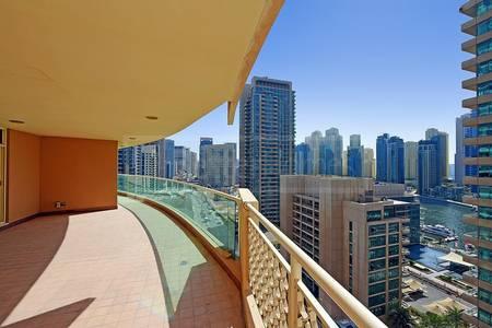 3 Bedroom Apartment for Sale in Dubai Marina, Dubai - Three Bedroom I With Balcony