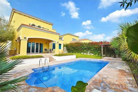4 Bedroom Villa for Rent in Jumeirah Park, Dubai - Private Pool | District 4 | Mature Lawn