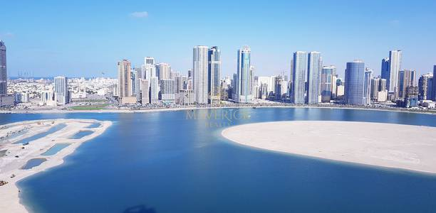 3 Bedroom Apartment for Rent in Al Mamzar, Sharjah - Full SeaView 3BR+Free Parking- Al Mamzar
