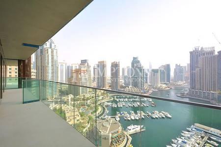 3 Bedroom Apartment for Rent in Dubai Marina, Dubai - High Floor | Marina View | 3BR + M Type 04