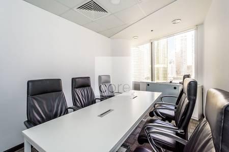 مکتب  للايجار في أبراج بحيرات الجميرا، دبي - Corner Office | Fitted | Gold Tower | DMCC