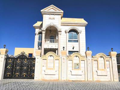 5 Bedroom Villa for Sale in Al Rawda, Ajman - New villa 6 rooms with an annex for a mosque with the possibility of financing the bank