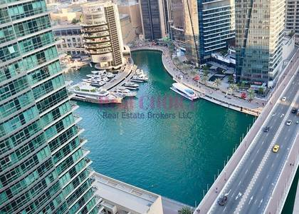 2 Bedroom Flat for Rent in Dubai Marina, Dubai - Fully Furnished 2BR|Partial Marina View