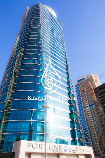 Office for Rent in Jumeirah Lake Towers (JLT), Dubai - Office space Fortune Tower at JLT for 60k