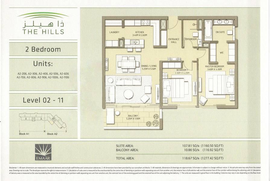 10 2 Beds | Low Floor | Completed December