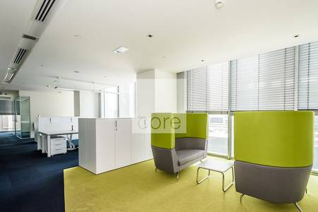 Office for Rent in Sheikh Zayed Road, Dubai - Vacant fitted partitioned office | Rolex
