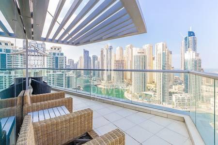 فلیٹ 3 غرفة نوم للايجار في دبي مارينا، دبي - Furnished 3 BR Apt with Full Marina View