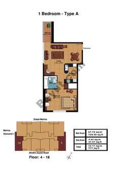 1 Bedroom-Type A Floor (4-18)