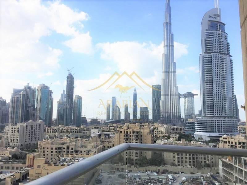 Burj Khalifa view Unfurnished 2 Bedrooms in Burj Views C