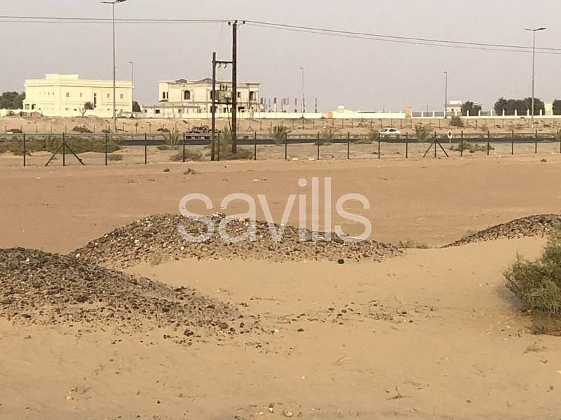 Plot on two roads ideal for two villas