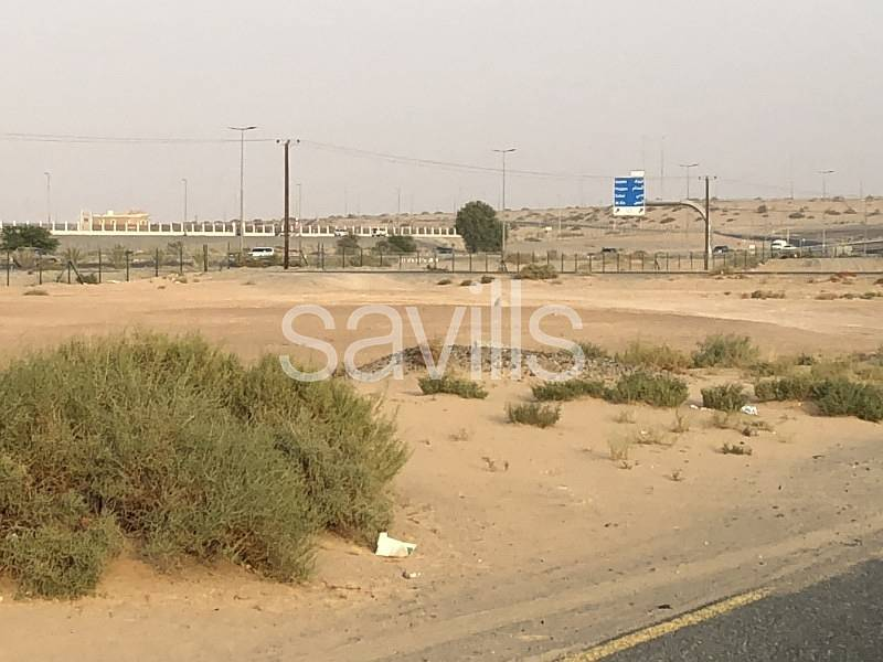2 Plot on two roads ideal for two villas