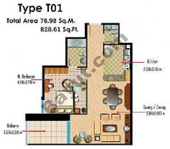 Type T01 1 Bedroom