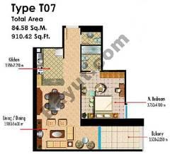 Type T07 1 Bedroom