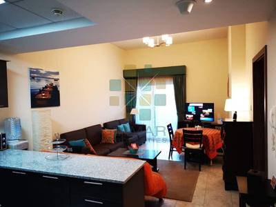 1 Bedroom Apartment for Rent in Jumeirah Village Triangle (JVT), Dubai - spaciour 1bhk fullly furnished equipped on low floor