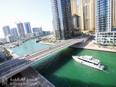 3 Bedroom Flat for Rent in Dubai Marina, Dubai - Amazing Unit with Full Marina View at The Waves