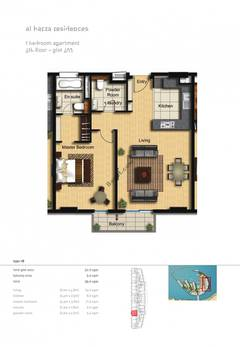 1-Bedroom-Apartment-Plot-403-Type-1B