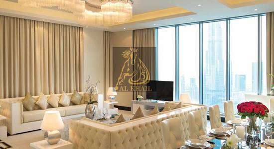 2 Bedroom Hotel Apartment for Sale in Downtown Dubai, Dubai - Last Unit - Ready to Move Furnished 2BR Service Hotel Apartment in Burj Area