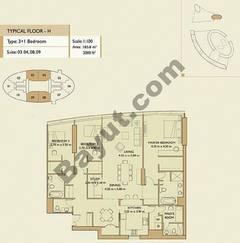 3 Bedrooms Apartment 2